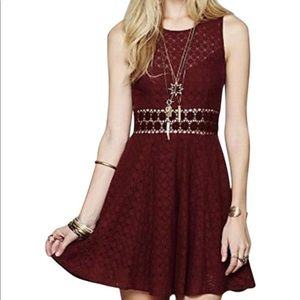 Free People lace dress with flowers